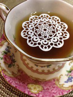 24 Sugar Doilies 2.5 Edible Aztec Doily Tea or Coffee