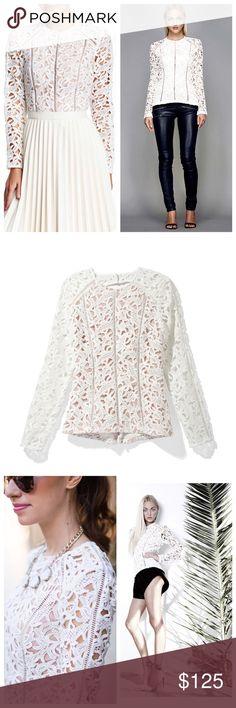 Spotted while shopping on Poshmark: 1 Left!! Stylerstalker White Lace Top! #poshmark #fashion #shopping #style #Stylestalker #Tops