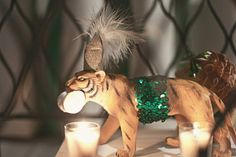 """Love the circus theme for your baby shower but want something a little """"hipper?"""" Jazz those animals up and bring on the Old World Circus theme! For deliciously inspired baby shower desserts, check out http://simplycreate.com/."""