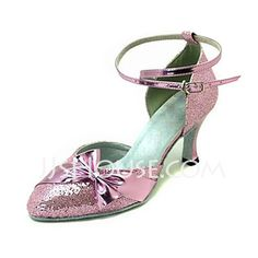 Dance Shoes - $28.99 - Women's Leatherette Sparkling Glitter Heels Pumps Modern Ballroom With Bowknot Dance Shoes (053013213) http://jjshouse.com/Women-S-Leatherette-Sparkling-Glitter-Heels-Pumps-Modern-Ballroom-With-Bowknot-Dance-Shoes-053013213-g13213