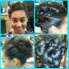 Happy Birthday to my gorgeous #naturalhair client Jennifer, sporting a chic, soft #updo styled with #DesignEssentials. :-)
