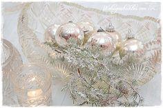 #Alte #Christbaumkugeln #Silber #Shabby Chic #Vintage bei #WohngeschichtenvonK.