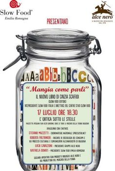 """""""Mangia come parli"""" """"Mangia come parli""""  (Slow Food Editore, 2014), scritto da Cinzia Scaffidi, vicepresidente di Slow Food http://www.informacibo.it/Sommario/I-Libri-segnalati-e-recensiti/alce-nero-e-slow-food-emilia-romagna-presentano-a-bologna-il-libro-mangia-come-parli-gioved-17-luglio"""