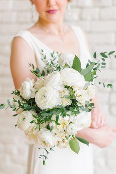 White Wedding Bouquet - Paige Vaughn Photography #bouquet #weddingbouquet #bridalbouquqet #weddingflowers #white #wedding #weddingplanning