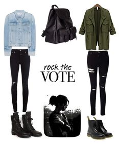 """RR"" by jualia-a76-841 ❤ liked on Polyvore featuring Chanel, Closed, Dr. Martens, Miss Selfridge, Yves Saint Laurent and rag & bone"