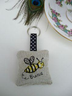 Handmade Lavender Keyring many designs Cath Kidston fabric hen flower bee keyfob | eBay