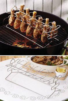 Delicious looking chicken drumsticks roasting.