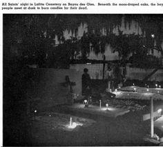 Lafitte cemetery, Bayou des Oies, LA :: Louisiana Sea Grant Digital Images Collection