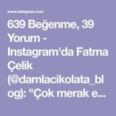 """639 Beğenme, 39 Yorum - Instagram'da Fatma Çelik (@damlacikolata_blog): """"Çok merak edilen kurabiye tarifimle herkese iyi akşamlar.... bu tarifi ilk denediğimde içinde…"""""""