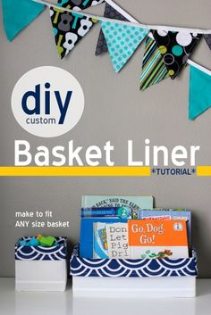 diy custom basket liner tutorial - works for any size basket! | VanillaJoy.com for those that sew and me one day when I learn how ;-))