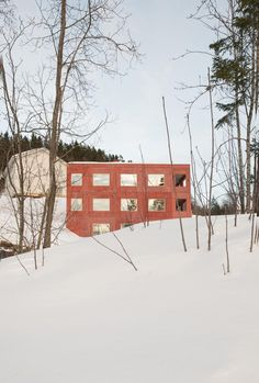 Architects Directory 2020: Sanden+Hodnekvam Architects, Norway Building Costs, Building Systems, Building Materials, Building A House, Lillehammer, Beautiful Architecture, Contemporary Architecture, Atrium House, Concrete Houses