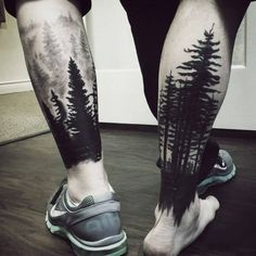 Tree Sleeve Tattoo Designs For Men - Ink Ideas With Branches Lower Leg Tree Sleeve Mens Tattoos With Black Ink MoreLower Leg Tree Sleeve Mens Tattoos With Black Ink . Tree Leg Tattoo, Calf Tattoo Men, Tree Sleeve Tattoo, Tattoo Henna, Best Sleeve Tattoos, Henna Tattoo Designs, Tattoo Sleeve Designs, Mens Leg Tattoo, Tattoo Sleeves