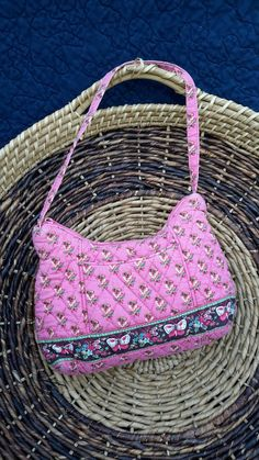 Vera Bradley Pink Handbag Butterfly Girls by AntiquesandVaria