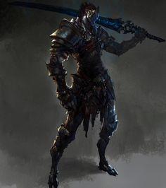 Sword Warrior, Ting Xu on ArtStation at https://www.artstation.com/artwork/sword-warrior
