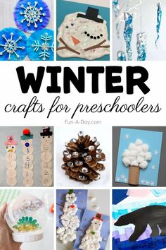 All the preschool winter crafts you need, all in one place! Winter is such a magical time in a preschool classroom or at home - capture the magic with these crafts and art projects that are all about snow, snowmen, arctic animals, and more! Preschool Lesson Plans, Preschool Themes, Preschool Classroom, Preschool Activities, Early Learning Activities, Winter Activities, Snow Globe Crafts, Snowflake Craft, Preschool Winter