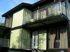 Just because a house is made from shipping containers doesn't mean you can't have a nice balcony! http://www.out-backstorage.com