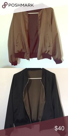 missguided reversible satin bomber never worn Missguided Jackets & Coats