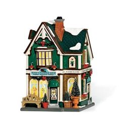 Department 56 Snow Village Rose's Flower Shop ** You can find more details by visiting the image link. (This is an affiliate link) Department 56 Christmas Village, Dept 56 Snow Village, Christmas Village Houses, Christmas Villages, Villas, Pole House, Vail Village, Christmas In The City, Merry Christmas