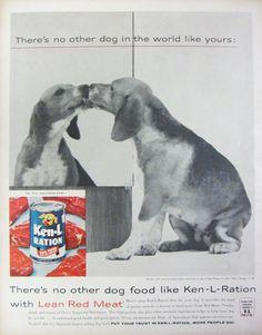 1960 Ken-L-Ration Dog Food Vintage Advertisement by RelicEclectic on Etsy #RelicEclectic #VintageAd #PetDecor #dog #VintageWallArt