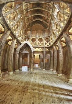 """The Stave Church at the Hjemkomst Center is a full scale replica of the Hopperstad Church in Vik, Norway. The church in Vik is one of..."