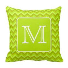 Lime Green Chevron Throw Pillow : 1000+ images about Lime Green Chevron Pillows and Throw Pillows on Pinterest Green Chevron ...