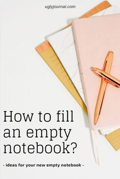 Ideas for using your new notebook! Plain Notebook, Pocket Notebook, Notebook Covers, Bullet Journal Hacks, Bullet Journal Notebook, Bullet Journals, Notebook Sketches, Notebook Ideas, Types Of Journals
