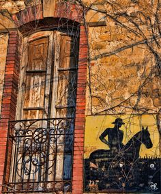 https://flic.kr/p/yjjjQh | Sunset Cowboy | Chilean Nitrate advertising, La Rioja, Spain