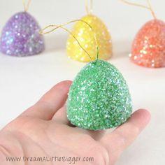 Giant Gumdrop DIY Ornaments - So cute! By Dream a Little Bigger