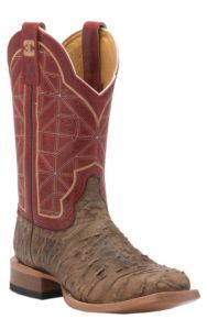 Cinch Men's Distressed Brown Rio with Rice Red Top Square Toe Western Boots | Cavender's