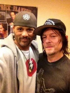 David Labrava & Norman...I don't know if I should pin this under Sons of Anarchy or the Walking Dead!!!