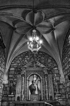 Interior de la Iglesia de Santa Columba en Fontioso
