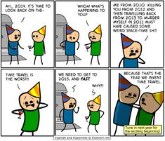Time Travel, Cyanide and Happiness, a daily webcomic