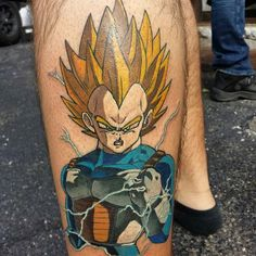 "videogametatts: ""Vegeta by @walkerink #dbz #dragonballz #videogametattoo #anime #animetattoo #vegeta #dbztattoo Thanks Will!!! """