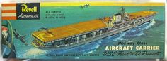 Vintage Revell Plastic Models Sub | Revell 1/547 Midway Class USS Franklin D. Roosevelt Aircraft Carrier ...