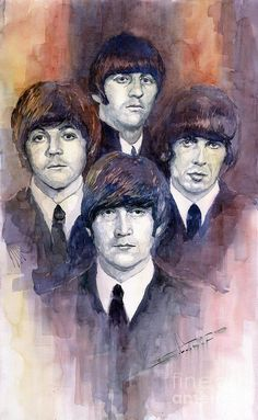 Shop for beatles art from the world's greatest living artists. All beatles artwork ships within 48 hours and includes a money-back guarantee. Choose your favorite beatles designs and purchase them as wall art, home decor, phone cases, tote bags, and more! Les Beatles, Beatles Art, Beatles Museum, Watercolor Paintings For Sale, Watercolor Art, John Lenon, Art Simple, Pop Rock, Illustration