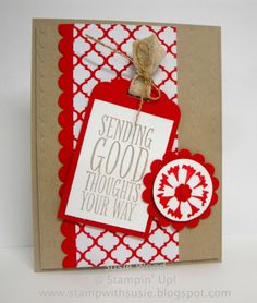 Stampin' Up!- 'Perfect Pennants' with Scalloped Tag Topper Punch