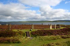 Ring of Brodgar,  in Neolithic Orkney . A UNESCO World Heritage Site.