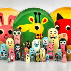 Ingela Arrhenius Melamine Plates and Nesting Dolls available from Lark!