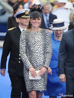 Pregnant Kate Middleton at a Princess Cruise Ship Naming Ceremony