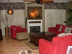 safari themed living room | New safari theme - Living Room Designs - Decorating Ideas - HGTV Rate ...