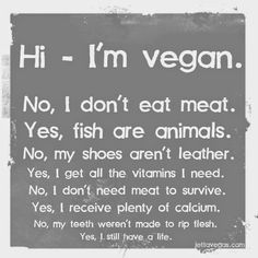 Vegan Community join us! Yes, i LOVE being vegan! Veggie Images, Animal Rights Quotes, World Vegan Day, Vegan Facts, Vegan Quotes, Food Quotes, The Ugly Truth, Vegan Animals, Vegan Lifestyle