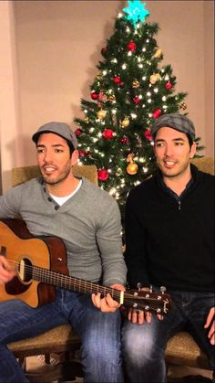 "Drew and Jonathan Scott Sing ""Home for the Holidays"" for GAC TV Top 50 C...this is the most I ever saw them look so much alike"