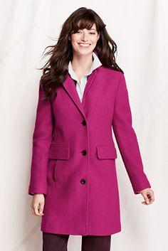 Women's Boiled Wool Walker Coat from Lands' End