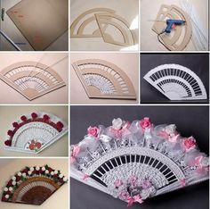 Cómo hacer #abanicos baratos con #cartón y #periódicos #HOWTO #DIY #artesanía #manualidades #reciclaje