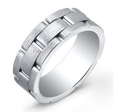 Italgem Super Titanium and Tungsten Blend with Brush Finish, Band from the shopping channel The Shopping Channel, Rings For Men, It Is Finished, Wedding Rings, Valentines, Engagement Rings, Band, Jewelry, Products
