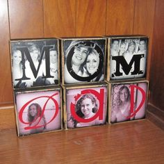 PERSONALIZED Photo Gift Photo Letter Blocks by WasteNotRecycledArt, $22.50