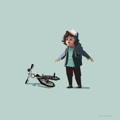 Just had to draw the adorable #Dustin after watching the #netflix show #StrangerThings. #fanart #stranger #things #illustration