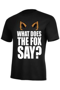 What Does The Fox Say T-Shirt Norweigian Music Video Youtube on Etsy, $14.99 | best stuff