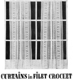 How to make crochet curtains Vintage by VintageVisageonEtsy