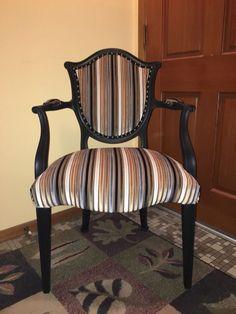 SOLD Reproduction Hepplewhite Shieldback by ChairishedFurnishing Salvaged Furniture, Vintage Furniture, Victorian Sofa, Black Chalk Paint, Diy Fashion Hacks, Brass Tacks, 100 Cotton Sheets, Upcycle, Armchair